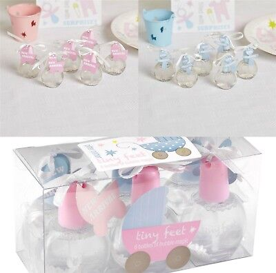 Tiny Feet Baby Shower Bubbles Pink Blue Boy Girl Party Tableware Decoration