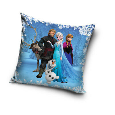 DISNEY FROZEN Anna Elsa Kristoff Olaf Sven cushion cover 40x40cm pillow case 01
