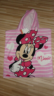 Disney **Minnie Mouse** Kapuzenhandtuch Poncho Bath Pool Beach Cotton
