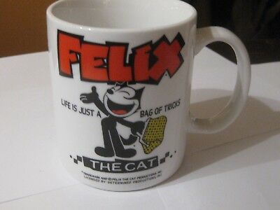 New Felix The Cat Ceramic Coffee Mug Life Is Just A Bag Of Tricks
