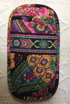 Vera Bradley Double Eyeglass Case Symphony In Hue Quilted Holder 2 Pair Glasses