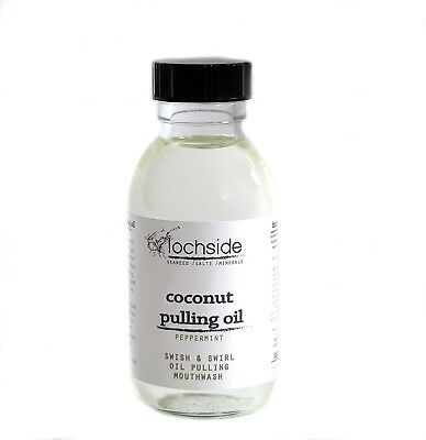 250ml Oil Pulling Mouthwash with Coconut Oil and Peppermint Essential Oil