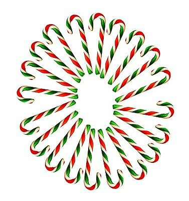18 Peppermint Christmas Tree 20g Candy Canes - Red Green and White