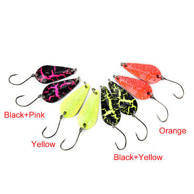 3g Small Micro Fishing Spoons Spoon Lures Fishing Spinner Bait two-side ColorP&T