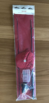 Seed, Childrens Fishing Rod, Reel,Tackle Box and Cap