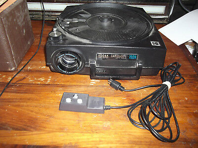 Kodak 760H Carousel slide Projector With remote tested working great shape