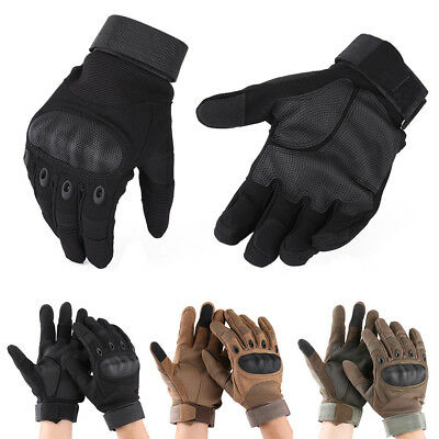 Touch Screen Full Finger Motorcycle Gloves Cycling Racing Bike Protector Armor