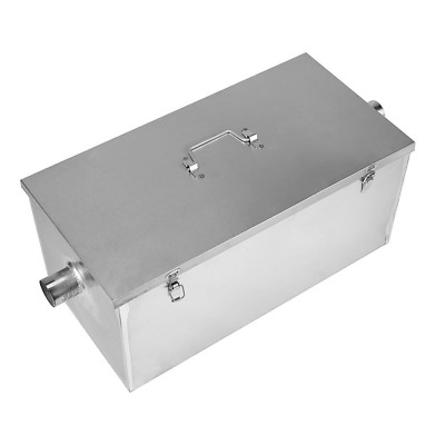 BEAMNOVA Commercial 25LB 13GPM Gallon Per Minute Grease Trap Stainless Steel Kit