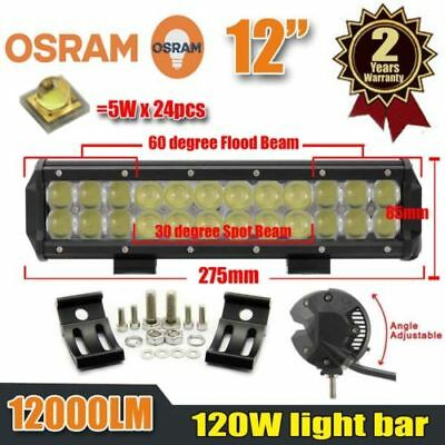 12'' Inch 120W Led Light Bar Flood Spot Beam Work Light for 4WD Driving SUV Jeep