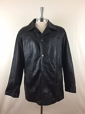 Vera Pelle Mens Leather Jacket Size M Made in Italy