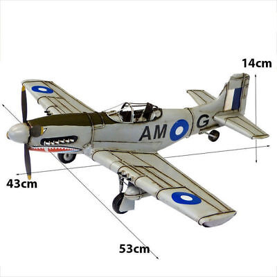 Vintage Collectable P 51 Mustang Shark Airplane Model Aircraft Home Decor Toy