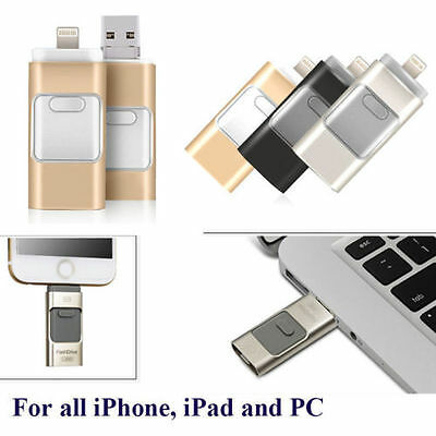 AU 128GB New i Flash Drive OTG USB Memory Stick For iPhone iPad IOS Android PC
