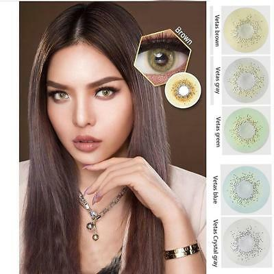 Makuep Grey Brown Green Colored Circle Contact Lenses for cosplay big eyes