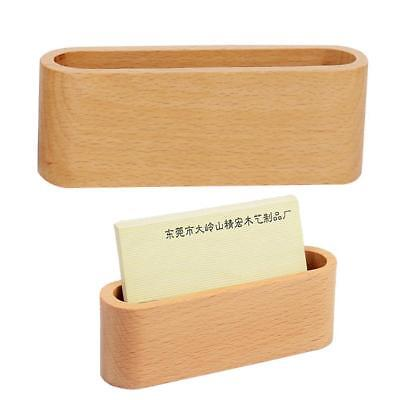 Card Holder Display Device Card Stand Holder Wooden Desk Organizer Business.