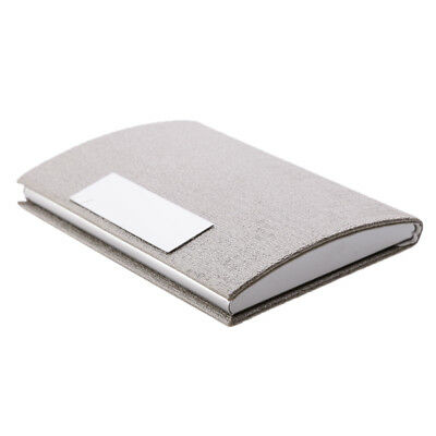 Pocket Business Card Credict ID Card Holder PU Leather&Stainless Steel