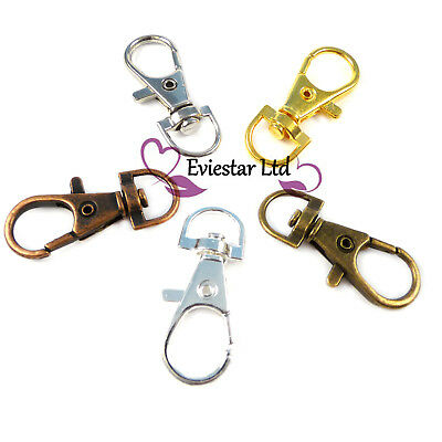 Clasps Lobster Swivel Trigger Clips Bag Key Ring Hook Findings Keychain ROM1