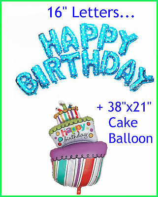 LARGE MAKE A WISH CANDLE CAKE FOIL HELIUM BALLOON HAPPY BIRTHDAY PARTY #19944