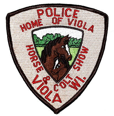 VIOLA WISCONSIN WI Police Sheriff Patch HORSE & COLT SHOW ~