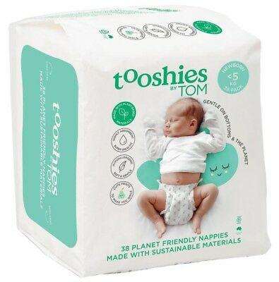 NEW TOOSHIES BY TOM Baby Nappies Newborn - 5kg (pack of 38)