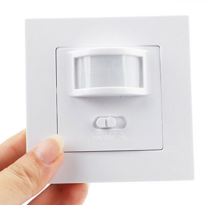 AC 220V 160° Infrared PIR Motion Sensor Recessed Wall Lamp Bulb Smart Switch