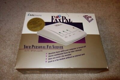 3D FaxPal Plus Personal Fax Server Model FPX11A - original box with everything
