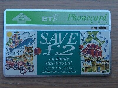 BT Phonecard, Family Fun Days Out, 20units, Used