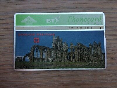 BT Phonecard, English Heritage: Whitby Abbey, 10 in series of 10, 50units