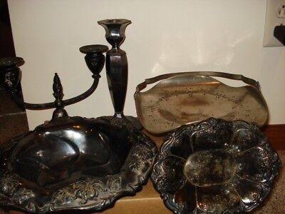 Lot of 5 Vintage Silverplate - Wallace, Fairpoint, Silvercraft, Camille,