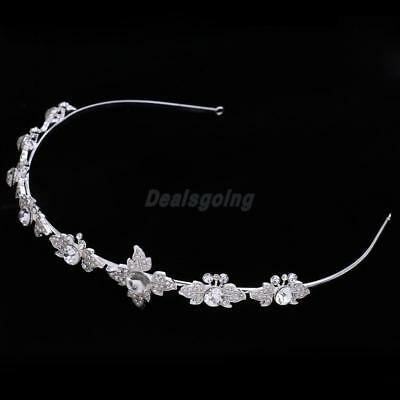 Elegant Wedding Crystal Flower Headband Headdress Bridal Hair Jewelry