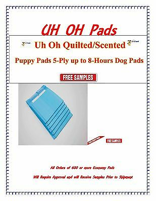 3 Sizes Qulited Puppy Training Scented/unscented 4 Dogs To 80Lbs Free Samples