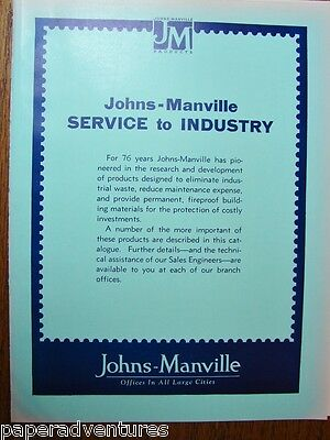 1934 JOHNS MANVILLE Building Products TRANSITE ASBESTOS Roof Insulation Catalog