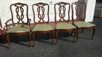 Set of 4 Vintage Wood Dining Chairs - FIXER UPPERS!