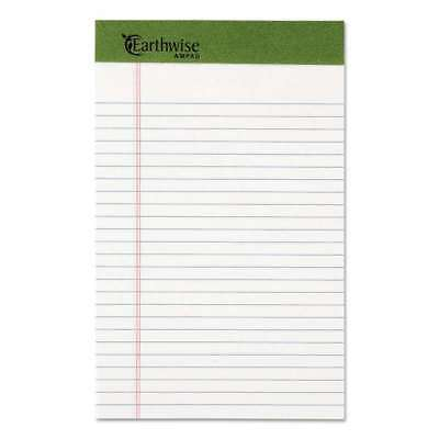 Ampad® Earthwise by Ampad Recycled Writing Pad, Narrow, 5 x 8, Wh 074319201526
