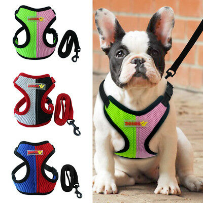 Harness and Lead Dog Cat Puppy Extra Small Medium Vest Non Pull Coat Mesh