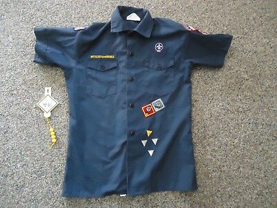 Bsa Boy Scouts Of America Navy Cub Scout Shirt-Youth Large