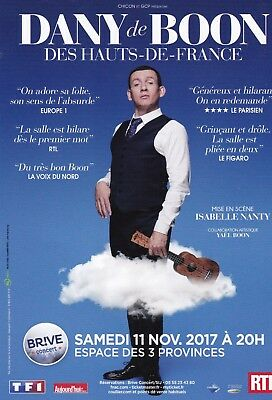Dany Boon - Spectacle 2017 - Brive-La-Gaillarde - Flyer / Tract Publicitaire