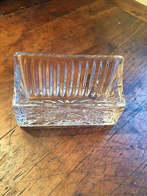 Cut crystal Business Card Holder Shannon?