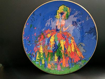 Leroy Neiman collector's plate picturing Columbine by Royal Doulton