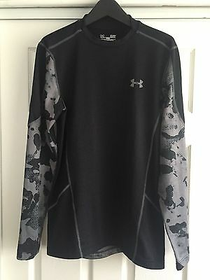 NWOT Under Armour Men's Cold Gear Evo Fitted Hybrid Mock Neck Size SMALL $60.00