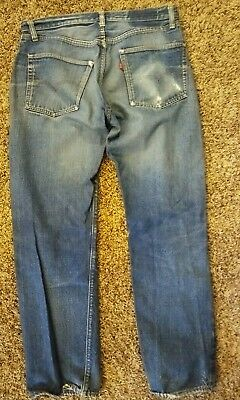 Vintage 1950's Levi's JEANS Big E 501 No Patch DISTRESSED Read Description 30/29