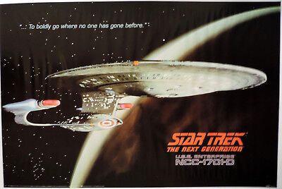 Star Trek The Next Generation - Enterprise D Exterior Poster - Portal Pub ptw634