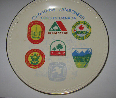 Boy Scouts of Canada Canadian Jamboree 1977 - 1989 Commerative Plate