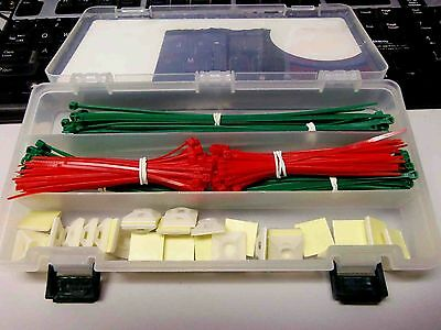 Stanley 265-Piece Cable Tie Kit ZIP TIES AND MOUNTING TABS NEW