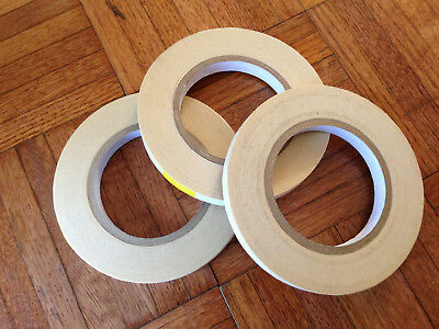 """Lot Of  12  Double Sided Tape  DC-2306  Coated Crepe Paper  1/2"""" X 36 Yards"""