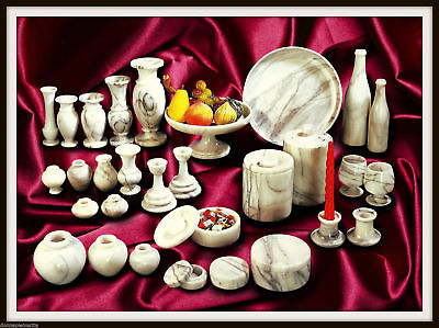 Lot Items white Marble Vases Centerpieces Amphorae Marble Centerpiece Vase