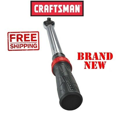 *New* CRAFTSMAN Micro-Clicker TORQUE WRENCH 1/2in Inch Drive Click 25-150 ft lbs