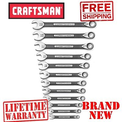 *New* CRAFTSMAN 12 pc. METRIC Universal WRENCH SET Tight Grip RUST Proof Free