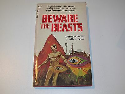 Beware Of The Beasts Vic Ghidalia & Roger Elwood 1970 Paperback Macfadden Horror