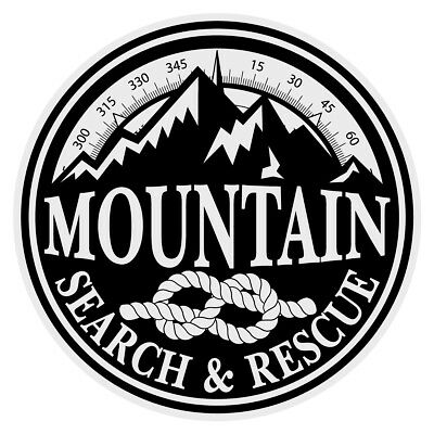 Emergency Search Rescue Small Round Reflective Decal Sticker