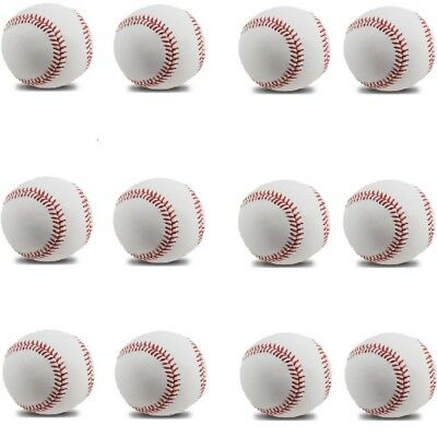 MiraoShop Baseball Ball Pack of 12 for League Play Games Sports